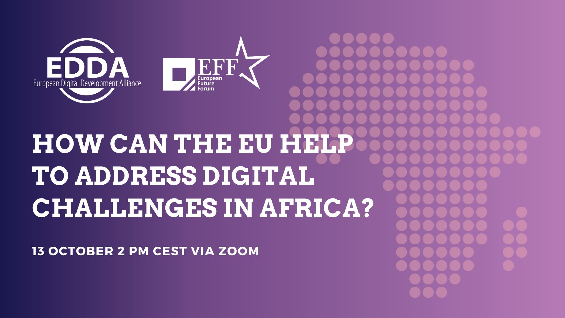 How can the EU help to address digital challenges in Africa? (13.10.20 2 pm CET)