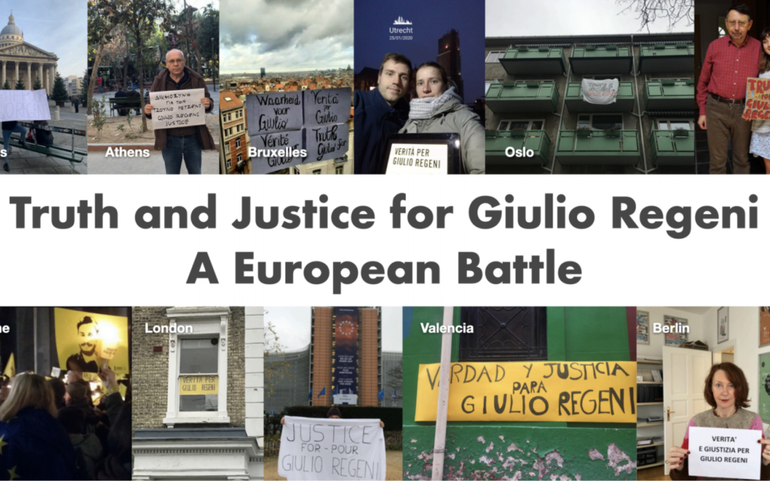 Truth and justice for Giulio Regeni – a European battle
