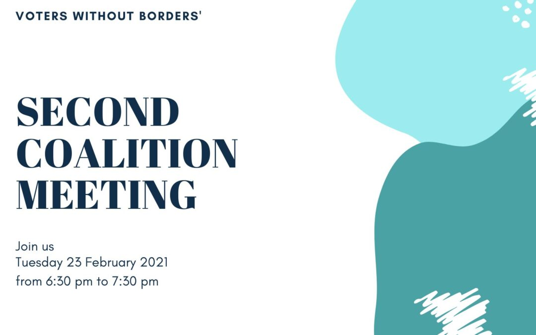 Voters Without Borders – 2nd COALITION MEETING