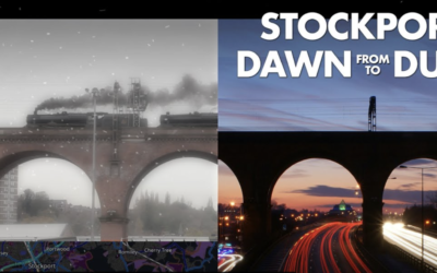 Stockport from Dawn to Dusk – a dynamic portrait of Stockport GB in videoclips and still photos